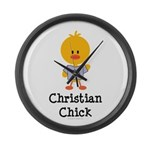 Christian Chick Large Wall Clock