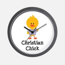 Christian Chick Wall Clock
