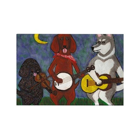 Country Dogs Rectangle Magnet