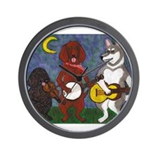 Country Dogs Wall Clock
