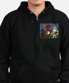 Country Dogs Zip Hoodie