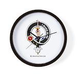 Kirkpatrick Clan Crest Badge Wall Clock