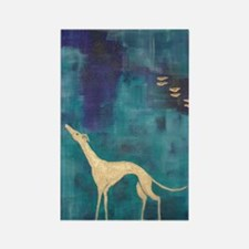 Standing Greyhound Rectangle Magnet (100 pack)