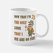 Hilarious Fishing 75th Birthday Mug
