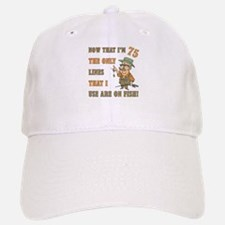 Hilarious Fishing 75th Birthday Baseball Baseball Cap