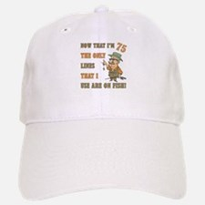 Hilarious Fishing 75th Birthday Cap