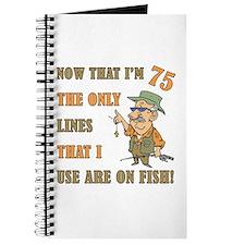 Hilarious Fishing 75th Birthday Journal