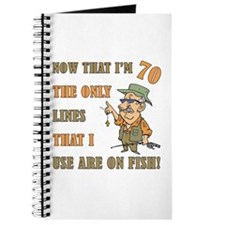 Hilarious Fishing 70th Birthday Journal