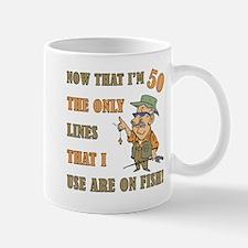 Hilarious Fishing 50th Birthday Mug