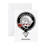 Kennedy Clan Crest Badge Greeting Cards (Package o