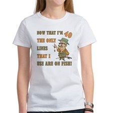 Hilarious Fishing 40th Birthday Tee