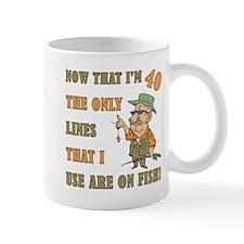 Hilarious Fishing 40th Birthday Small Mugs