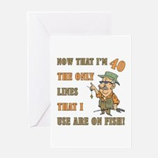 Hilarious Fishing 40th Birthday Greeting Card