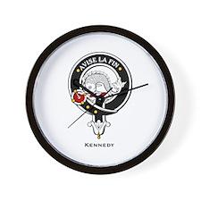 Kennedy Clan Crest Badge Wall Clock
