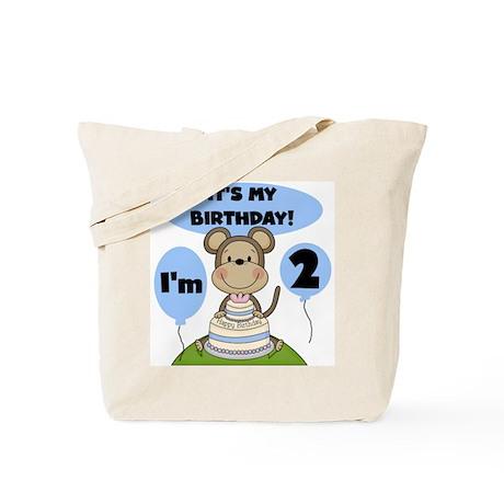 Boy Monkey 2nd Birthday Tote Bag