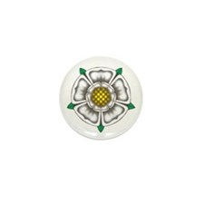 White Rose of York Mini Button (10 pack)