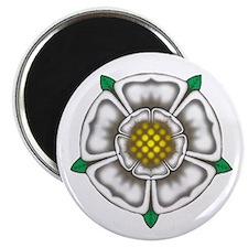 """White Rose of York 2.25"""" Magnet (10 pack)"""