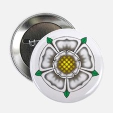 "White Rose of York 2.25"" Button (100 pack)"
