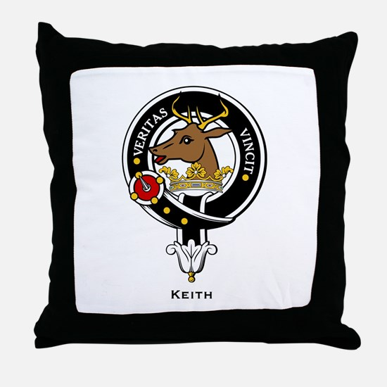 Keith Clan Crest Badge Throw Pillow