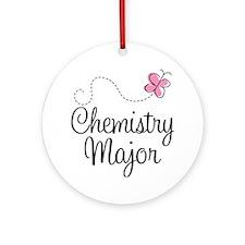 Cute Chemistry Major Ornament (Round)
