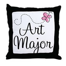 Cute Art Major Throw Pillow