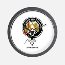 Johnstone Clan Crest Badge Wall Clock