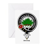 Irvine Clan Crest Badge Greeting Cards (Package of