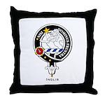 Inglis Clan Crest Badge Throw Pillow