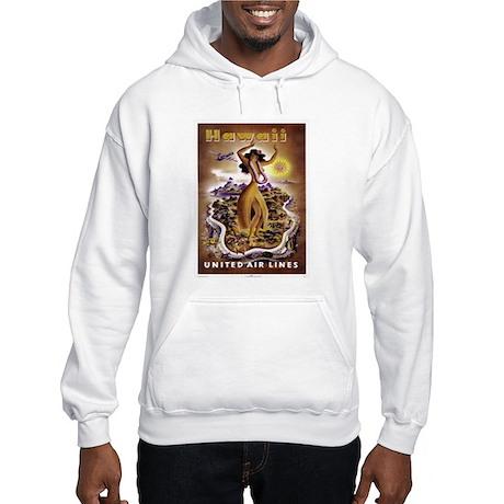 Retro United Hawaii Poster Hooded Sweatshirt