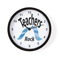 Teachers Rock Wall Clock