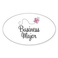 Cute Business Major Decal