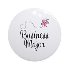 Cute Business Major Ornament (Round)
