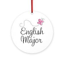 Cute English Major Ornament (Round)
