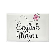 Cute English Major Rectangle Magnet