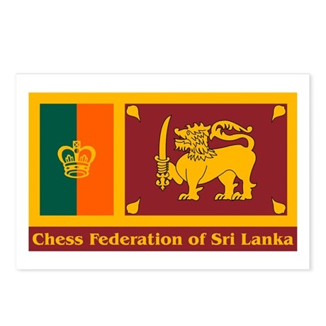 Chess Federation of Sri Lanka Postcards (Package o