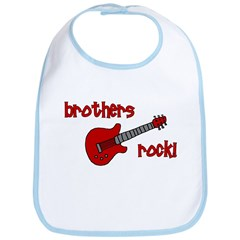 Brothers Rock! Red Guitar Bib