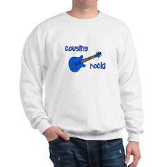 Cousins Rock! Blue Guitar Sweatshirt