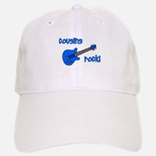 Cousins Rock! Blue Guitar Baseball Baseball Cap