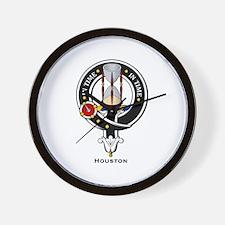 Houston Clan Crest Badge Wall Clock