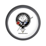 Horsburgh Clan Crest Badge Wall Clock