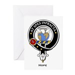 Hope Clan Crest badge Greeting Cards (Pk of 10