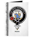 Hope Clan Crest badge Journal