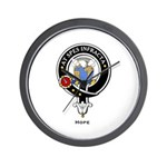 Hope Clan Crest badge Wall Clock