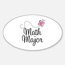 Cute Math Major Sticker (Oval)