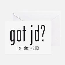 got jd? (i do! class of 2010) Greeting Card