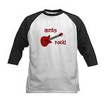 Aunts Rock! Red Guitar Kids Baseball Jersey