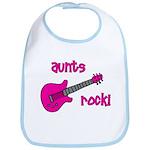 Aunts Rock! Pink Guitar Bib