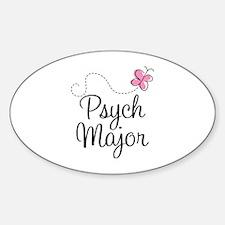 Cute Psych Major Sticker (Oval)