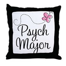 Cute Psych Major Throw Pillow