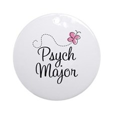 Cute Psych Major Ornament (Round)